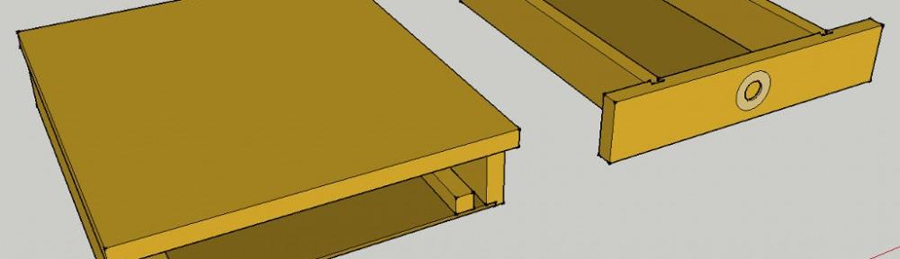 Druckerständer mit Papierfach
