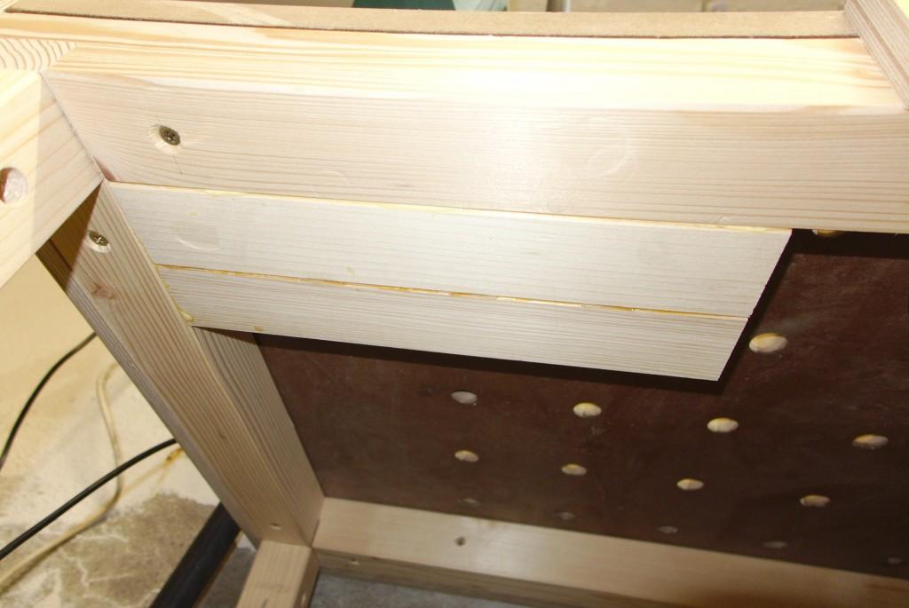 Tischplatte unterfüttern