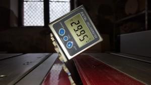 30° auf Winkelmesser