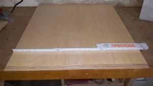 Basisplatte zuschneiden