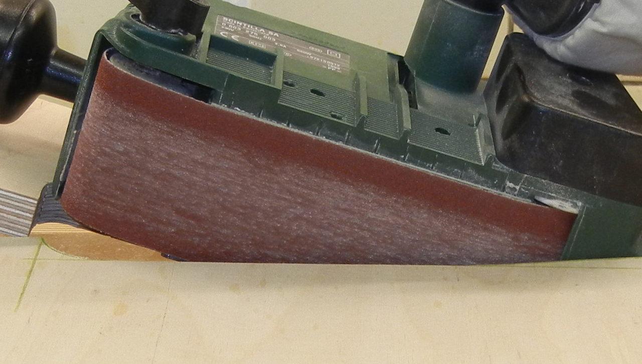 bandschleifertisch selbst bauen – bandschleifer stationär verwenden